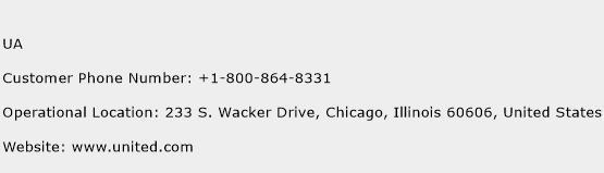 UA Phone Number Customer Service