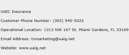 UAIC Insurance Phone Number Customer Service