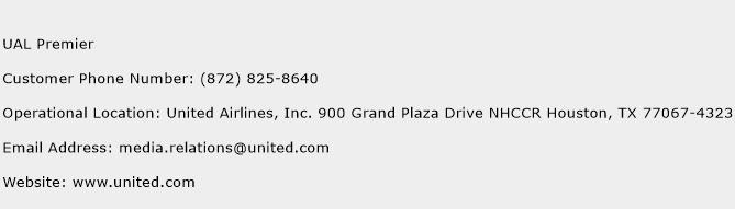 UAL Premier Phone Number Customer Service
