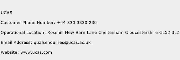 UCAS Phone Number Customer Service