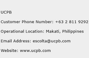 UCPB Phone Number Customer Service