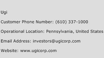 UGI Phone Number Customer Service