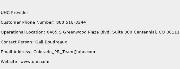 UHC Provider Phone Number Customer Service