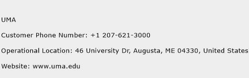 UMA Phone Number Customer Service
