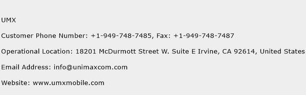 UMX Phone Number Customer Service