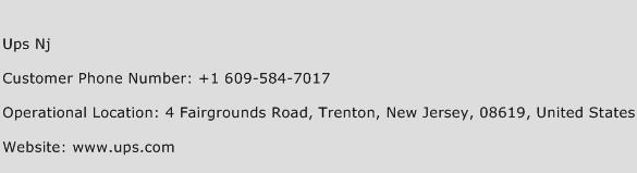 UPS NJ Phone Number Customer Service