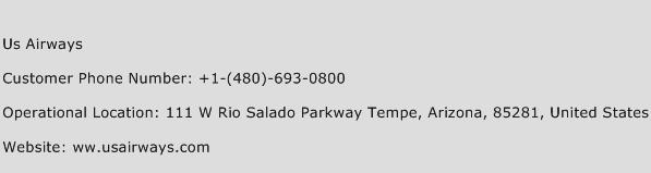 US Airways Phone Number Customer Service