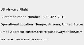 US Airways Flight Phone Number Customer Service