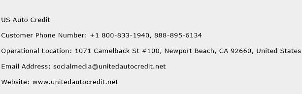 US Auto Credit Phone Number Customer Service