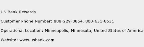 US Bank Rewards Phone Number Customer Service