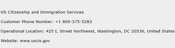US Citizenship and Immigration Services Phone Number Customer Service