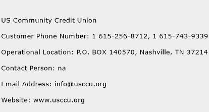 US Community Credit Union Phone Number Customer Service