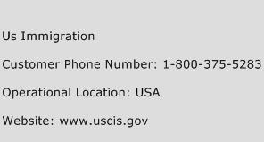 US Immigration Phone Number Customer Service