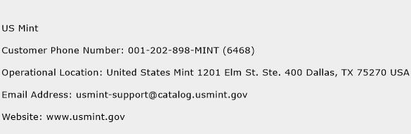 US Mint Phone Number Customer Service