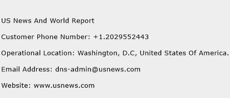 US News And World Report Phone Number Customer Service