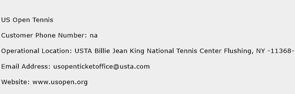 US Open Tennis Phone Number Customer Service
