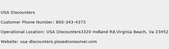 USA Discounters Phone Number Customer Service