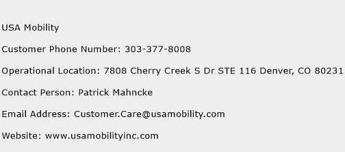USA Mobility Phone Number Customer Service
