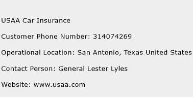 USAA Car Insurance Phone Number Customer Service