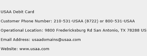 USAA Debit Card Phone Number Customer Service
