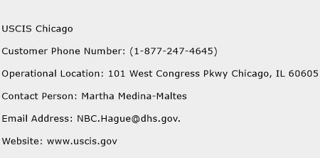 USCIS Chicago Phone Number Customer Service