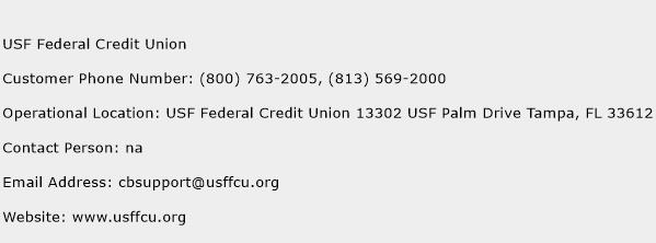 USF Federal Credit Union Phone Number Customer Service