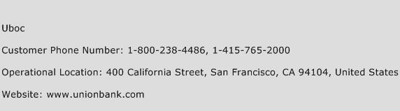 Uboc Phone Number Customer Service