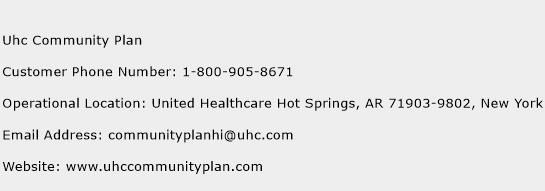 Uhc Community Plan Phone Number Customer Service
