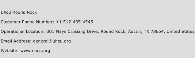 Uhcu Round Rock Phone Number Customer Service