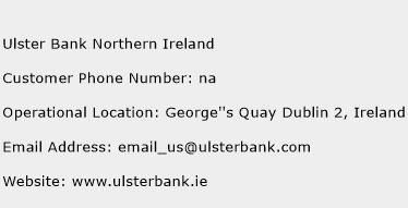 Ulster Bank Northern Ireland Phone Number Customer Service