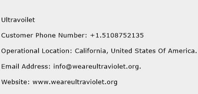 Ultravoilet Phone Number Customer Service