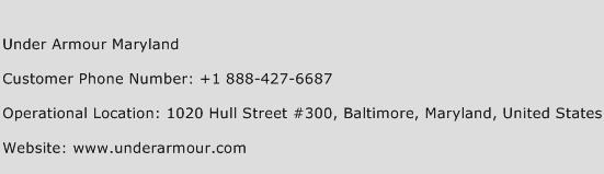 Under Armour Maryland Phone Number Customer Service