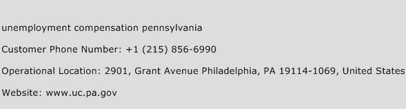 Unemployment Compensation Pennsylvania Phone Number Customer Service