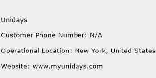 Unidays Phone Number Customer Service