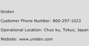 Uniden Phone Number Customer Service