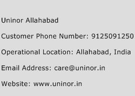 Uninor Allahabad Phone Number Customer Service