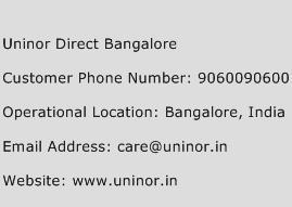Uninor Direct Bangalore Phone Number Customer Service