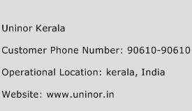 Uninor Kerala Phone Number Customer Service