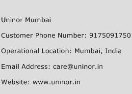Uninor Mumbai Phone Number Customer Service