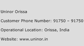 Uninor Orissa Phone Number Customer Service