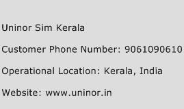 Uninor Sim Kerala Phone Number Customer Service