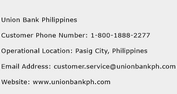 Union Bank Philippines Phone Number Customer Service