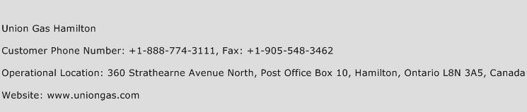 Union Gas Hamilton Phone Number Customer Service