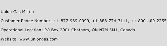 Union Gas Milton Phone Number Customer Service