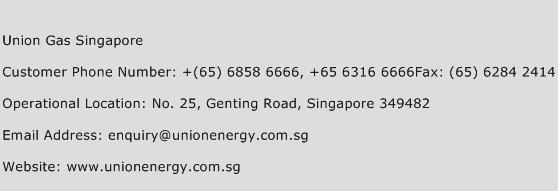 Union Gas Singapore Phone Number Customer Service