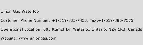 Union Gas Waterloo Phone Number Customer Service