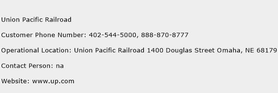 Union Pacific Railroad Phone Number Customer Service