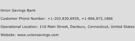 Union Savings Bank Phone Number Customer Service