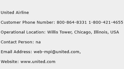 United Airline Phone Number Customer Service