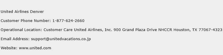 United Airlines Denver Phone Number Customer Service